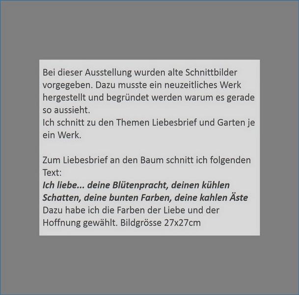 Schweiz. Ausstellungen 2013-15 - Schnittkunst